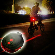 Bicycle Flashing 2 Laser +5 LED Lamp Light Rear Cycling Bike Tail Safety Warning