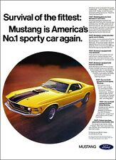 24x36 1970 Ford Mustang Mach 1 428 Cobra Jet Ad Poster Art Brochure Sporty