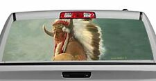 Truck Rear Window Decal Graphic [Indian Portrait] 20x65in DC16602