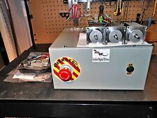 Gecko 6 Axis Chassis (3 G251x's) 48v 12.5a & 3 Nema 23 300oz in 3.5A Motors