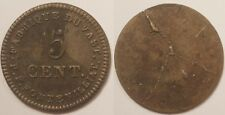 5 Centimes Louis XVIII, fabrique du Vast - Saint Vaast la Hougue (50), Rare !!