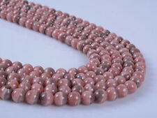 6mm247 6mm Natural Argentina rhodochrosite round gemstone loose beads 16""
