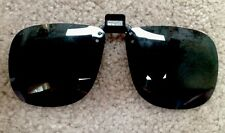 NEW Polarized Sunglasses Fit-Over Your Glasses Made In USA Clip On, Flip Up