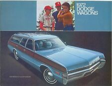 Dodge Coronet Polara Monaco Wagons 1972 Original Chrysler USA Foldout Brochure