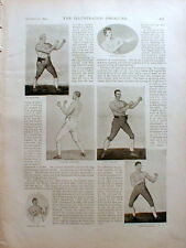 1895 Illustrated newspaper w display on EARLY BOXERS incl CORBETT & FITZSIMMONS
