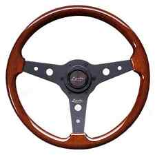 "CLASSIC WOOD STEERING WHEEL 340mm 13.4"" LUISI ""MONTREAL"" MAHOGANY NARDI STYLE"