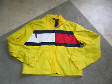 VINTAGE Tommy Hilfiger Sailing Gear Jacket Youth Large Yellow Sport Windbreaker