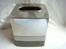 "3 TONE CHROME METAL TISSUE BOX Bed Bath & Beyond ""Triune Metal Boutique"" INDIA"