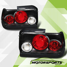 1993 1994 1995 1996 1997 Toyota Corolla Black Tail Lights Rear Lamps G2