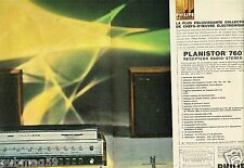 Publicité Advertising 1967 (2 pages) Recepteur Radio Stereo Planistor Philips