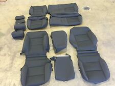 FACTORY OEM BLACK CLOTH SEAT COVERS SIERRA SILVERADO DOUBLE CAB 2014 2015