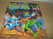 Marvel super heroes secret wars panini sticker album vintage 1986 75% complet