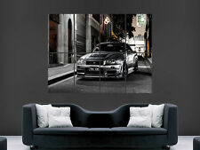 NISSAN GTR SILVER CAR   ART WALL LARGE IMAGE GIANT POSTER