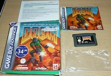 DOOM for NINTENDO GAMEBOY ADVANCE SP MICRO DS LITE Boxed Game Cart Instructions