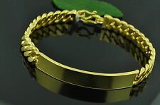 46.00 GRAM 24K I D BRACELET YELLOW GOLD bullion 9999 CHAIN HANDMADE 7.5 INCHES