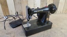 Retro Vintage Semi Industrial Motorised Singer 99K Sewing Machine And Foot Pedal