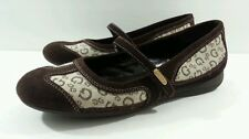 Guess Brown Suede/Fabric MJ Ballet Flats - Size 7M