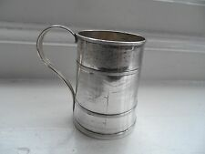 Georgian Silver Plated Miniature Tankard c-1820's No Reserve