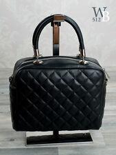 Ital. Damentaschen  Abendtasche Ledertasche Tragetasche schwarz echt Leder 746S