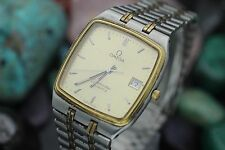 Vintage OMEGA Seamaster Quartz Cal. 1420 Two Tone Men's Dress Watch