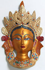**Beautiful** Large Painted Tara Hindu/Buddhist Wall Plaque Mask