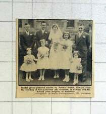 1957 Bridal Group Miss Elizabeth Bounden, Newlyn And Mr Ronald Sargent, Plymouth