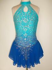 CUSTOM MADE FIGURE SKATING BATON TWIRLING DRESS COSTUME