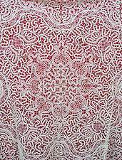 Vintage Italian Bobbin Cantu Lace Tablecloth 37 x 37 Antique