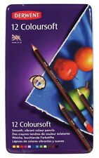 Derwent Coloursoft Pencils 12 Tin