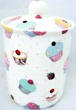 Fairy Cupcakes Canister Bone China Cupcakes Lidded Storage Jar Hand Decorated UK