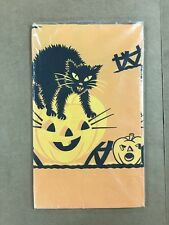 "Vintage Halloween Table Cover 54x104"" Large Woolworth In Package"
