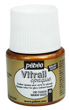 Pebeo Vitrail Stained Glass Effect Paint 45ml Bottle - All OPAQUE Colours