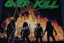OVERKILL FEEL THE FIRE CD AUTOGRAPHED BY THE GODPARENTS OF THRASH THE ZAZULAS