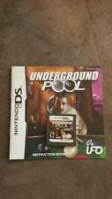Underground Pool Video game Cartridge Only (Nintendo DS, 2007)