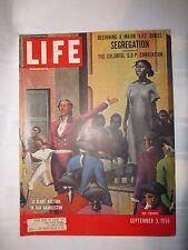 Vintage 1956 SEPTEMBER 3 LIFE MAGAZINE -  Segregation - Slavery - Dior Hemlines
