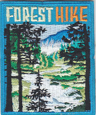 """""""FOREST HIKE"""" PATCH - SPORTS - HIKING - OUTDOORS -IRON ON EMBROIDERED APPLIQUE"""