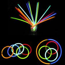 """10 X 8"""" Glow Sticks Bracelet Necklaces light Neon Party Multi Colors Christmas"""