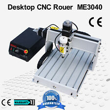 300W Desktop CNC Router Milling Machin ME3040 With Brusgless Spindle Air Cooling