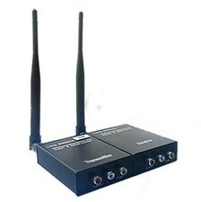 2.4GHz 12V 3W Wireless Audio Video AV Transmitter Sender and Receiver CCTV Cam