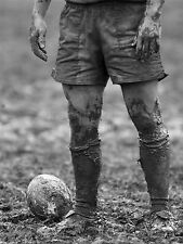 ART PRINT POSTER SPORT PHOTO DT BALL RUGBY MUD BOWL LFMP0351