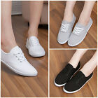 Fashion Womens Canvas Shoes Lace Up Casual Sneakers Tennis Flats Ladies Shoes