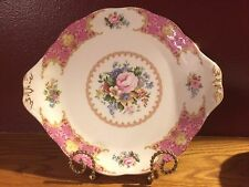 Royal Albert Lady Carlyle cake/sandwich plate with handles - EUC