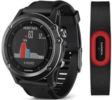 New Garmin Fenix 3 HR Multisport Sapphire GPS Watch Bundle w/ Heart Rate Strap