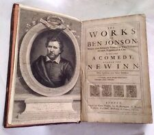 1692 Ben Jonson The Works First Complete Collected Edition The New Inn Epigrams