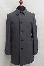 Men's Grey Oliver Sweeney Trench Coat Rain Coat Mac Size Large 44R SS8050