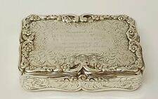 stunning victorian solid silver table snuff box birmingham 1853