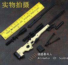 Mini Toys 1:6 Scale AWM/L96A1 Full Metal Sniper Rifle Sand Color