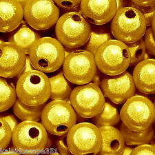 MIRACLE BEADS BRIGHT YELLOW 4MM ROUND 120 BEADS