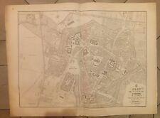 HAUT-RHIN PLAN de la Ville de COLMAR et de ses Faubourgs 1841 Lithographie