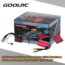 Original GoolRC S3670 2850KV Motor 120A ESC and Program Card for 1/8 RC Car R2V9